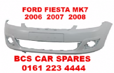 FORD FIESTA MK7   FRONT BUMPER  2006 -2007 - 2008  NEW  NEW  ( READY TO PAINT )